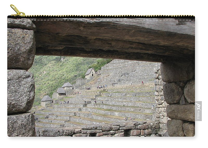 Landscape Carry-all Pouch featuring the photograph Macchu Picchu 5 by Sandra Bourret