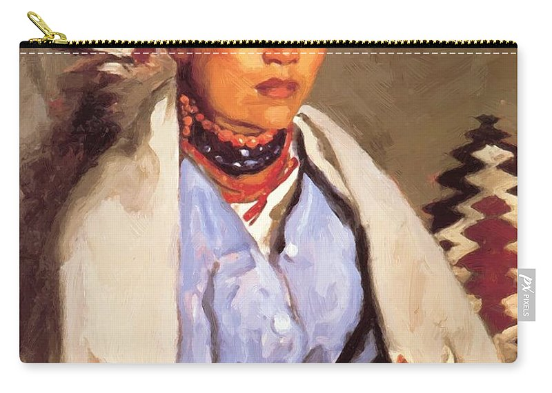 Macedonia Carry-all Pouch featuring the painting Macedonia 1917 by Henri Robert