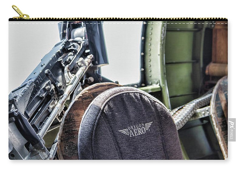 Wwii Carry-all Pouch featuring the photograph Machine Gun Aircraft Wwii by Chuck Kuhn