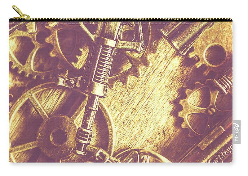 Firearms Carry-all Pouch featuring the photograph Machine Guns by Jorgo Photography - Wall Art Gallery