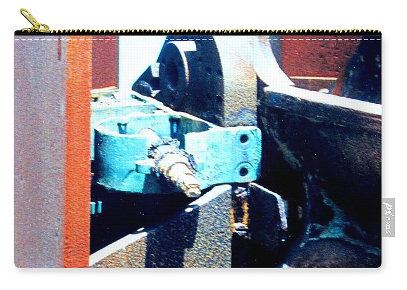 Rust Carry-all Pouch featuring the photograph Machinery by Ian MacDonald
