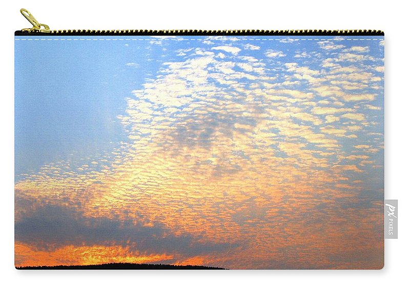 Mackerel Sky Carry-all Pouch featuring the photograph Mackerel Sky by Will Borden