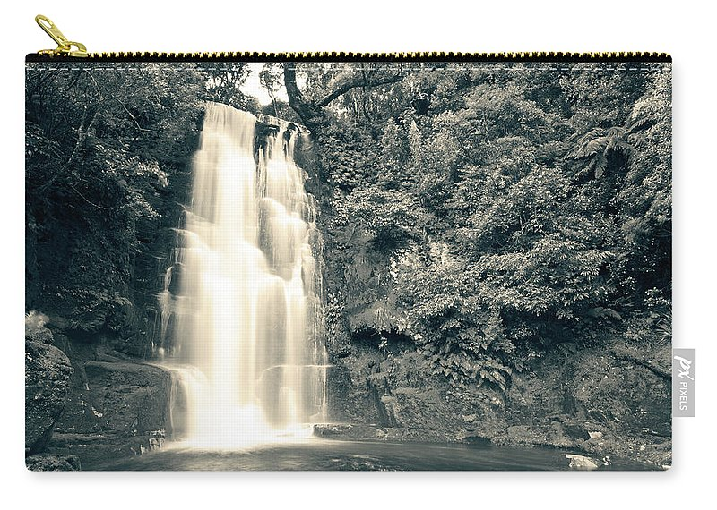 Catlins Carry-all Pouch featuring the photograph Maclean Falls New Zealand by U Schade