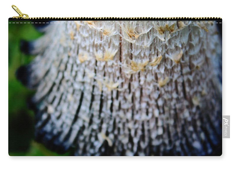Nature Carry-all Pouch featuring the photograph Macro Mushroom by Don Baker