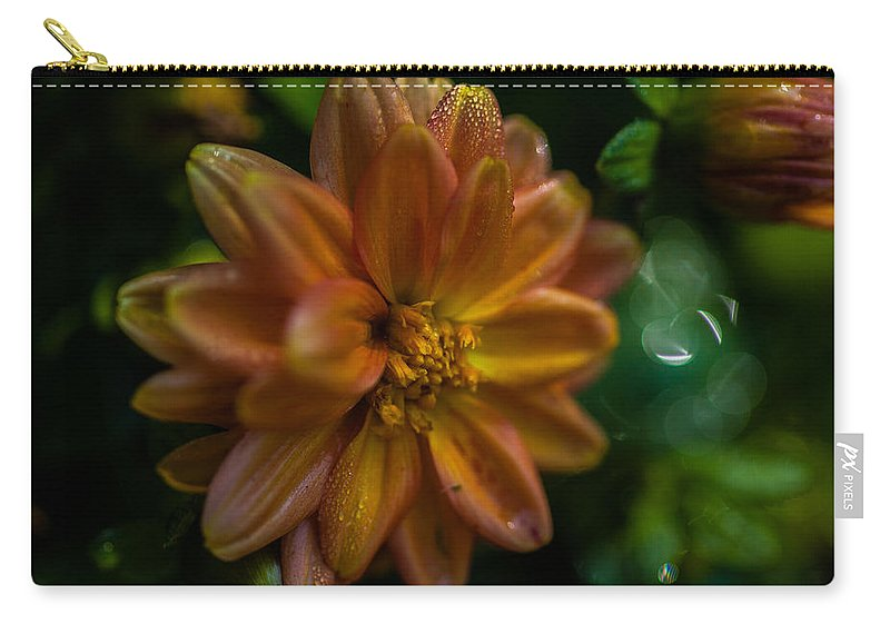 New England Carry-all Pouch featuring the photograph Macro Of Dahlia Flower by Jeff Folger
