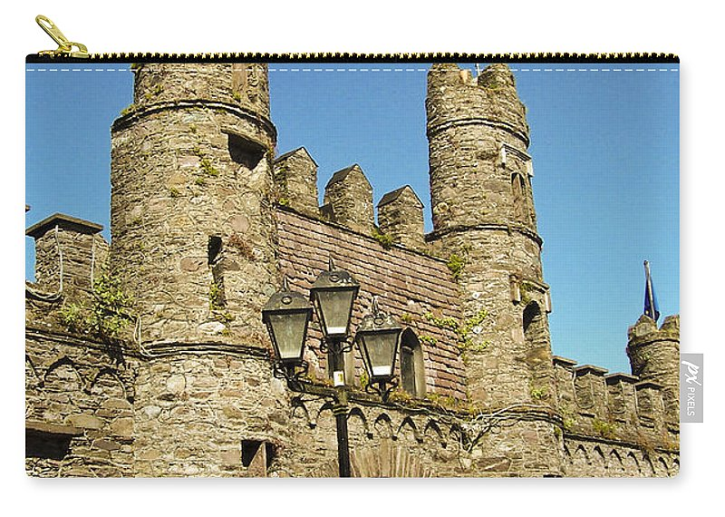 Irish Carry-all Pouch featuring the photograph Macroom Castle County Cork Ireland by Teresa Mucha