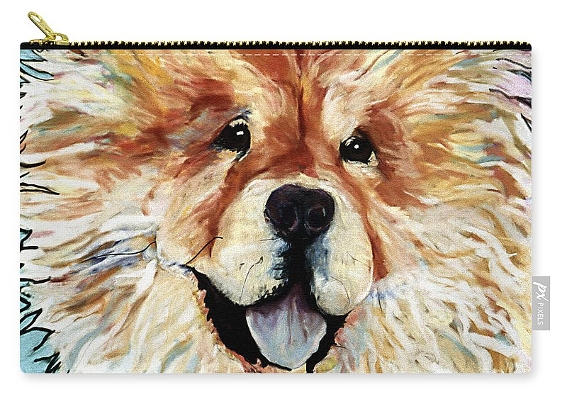 Chow Chow Carry-all Pouch featuring the pastel Madame Chu Cho by Pat Saunders-White