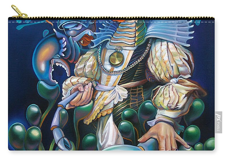Sea Anemone Carry-all Pouch featuring the painting Madame Clawdia D'bouclier From Mask Of The Ancient Mariner by Patrick Anthony Pierson