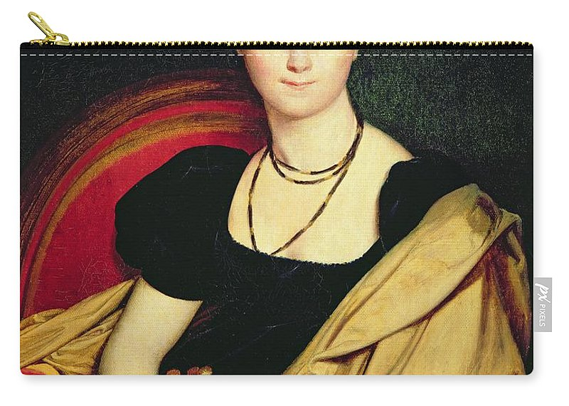 Madame Carry-all Pouch featuring the painting Madame Devaucay by Jean Auguste Dominique Ingres