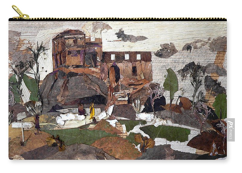 Palace Made By King Madan Shah Carry-all Pouch featuring the mixed media Madan Mahal by Basant Soni