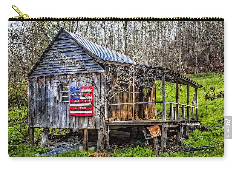 American Carry-all Pouch featuring the photograph Made In The Usa by Debra and Dave Vanderlaan