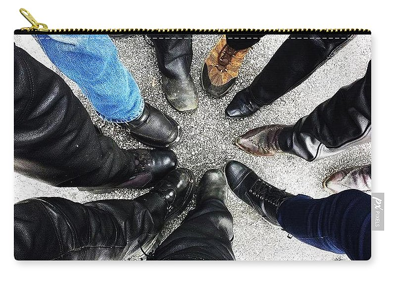 Bikers Carry-all Pouch featuring the photograph Made To Ride by Pattie Frost