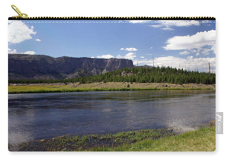 Madison River Carry-all Pouch featuring the photograph Madison River Valley by Marty Koch