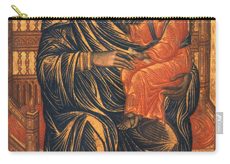 13th Century Carry-all Pouch featuring the photograph Madonna Icon, 13th Century by Granger