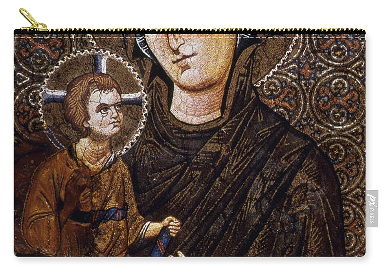 13th Century Carry-all Pouch featuring the photograph Madonna Icon by Granger
