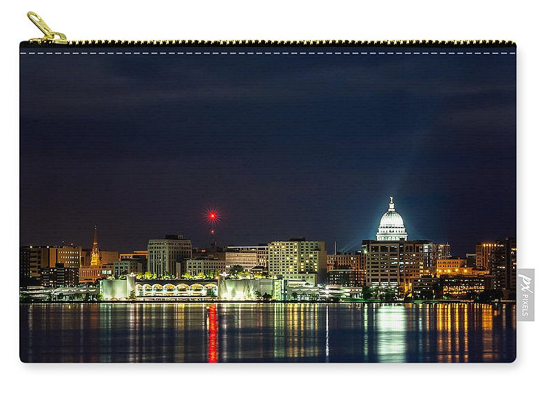 Isthmus Carry-all Pouch featuring the photograph Madtown Skyline by Todd Klassy