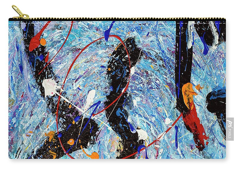 Abstract Carry-all Pouch featuring the painting Maelstrom by Dominic Piperata