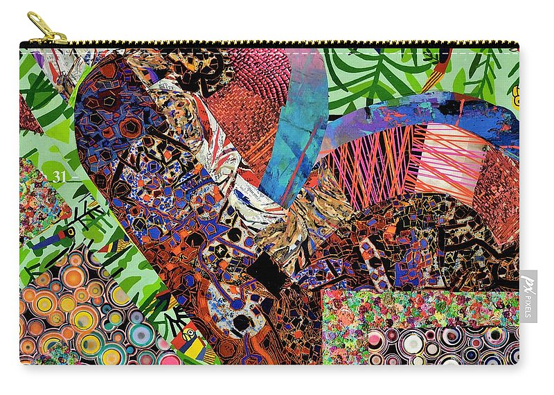 Drawings By Paul Meinerth Carry-all Pouch featuring the relief Magazine Art by Paul Meinerth