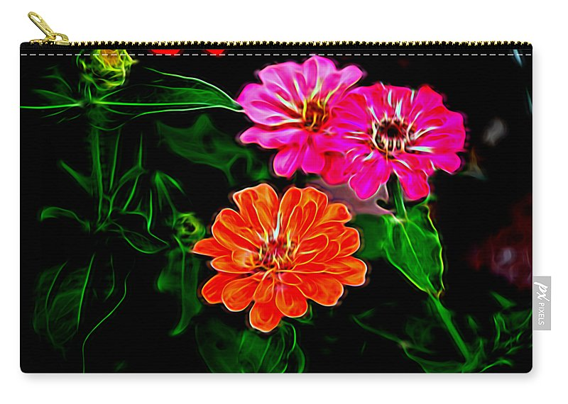 Magellan Flowers Carry-all Pouch featuring the photograph Magellans In Abstract 4 by Kristalin Davis