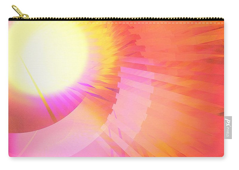 Apophysis Carry-all Pouch featuring the digital art Magenta Orange Sunshine by Kim Sy Ok