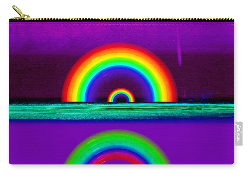 Rainbow Carry-all Pouch featuring the painting Magenta Sunset by Charles Stuart