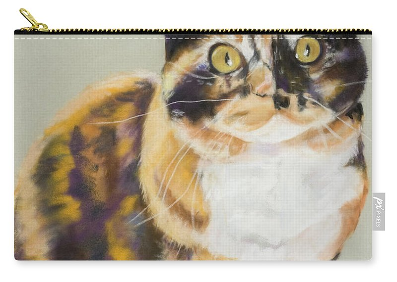 Calico Carry-all Pouch featuring the painting Maggie Mae by Pat Saunders-White