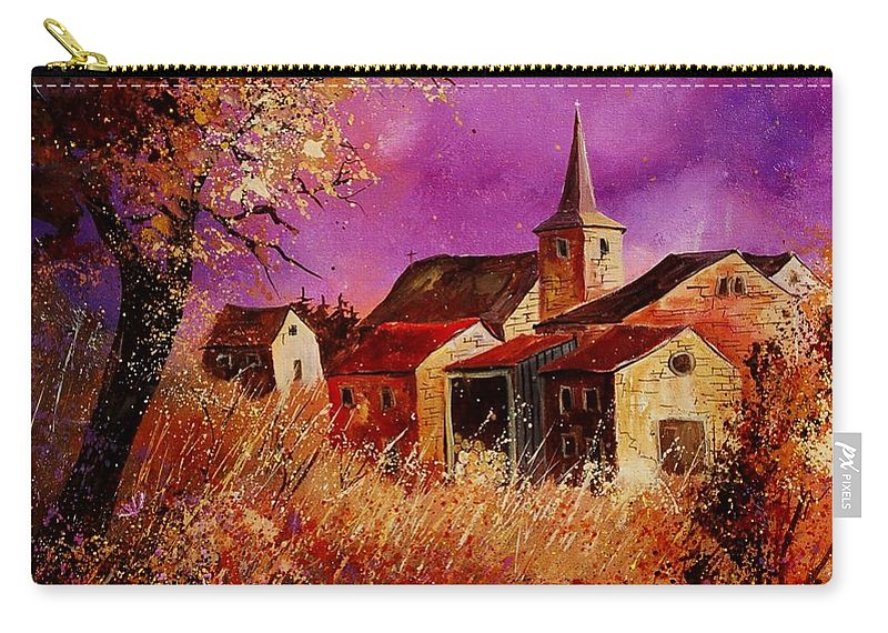 Landscape Carry-all Pouch featuring the painting Magic Autumn by Pol Ledent