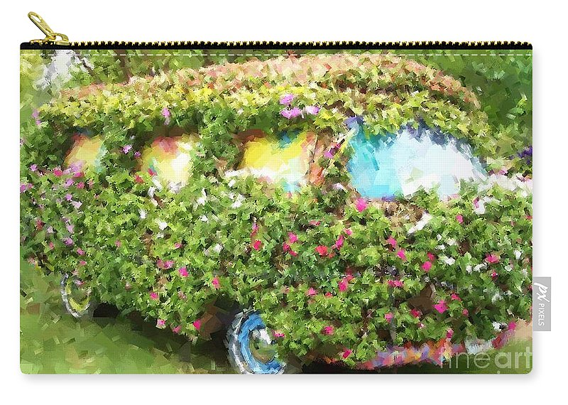 Volkswagen Carry-all Pouch featuring the photograph Magic Bus by Debbi Granruth