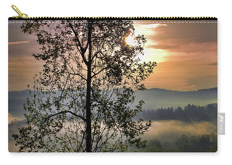 Morning Carry-all Pouch featuring the digital art Magic Morning by Anita Hubbard
