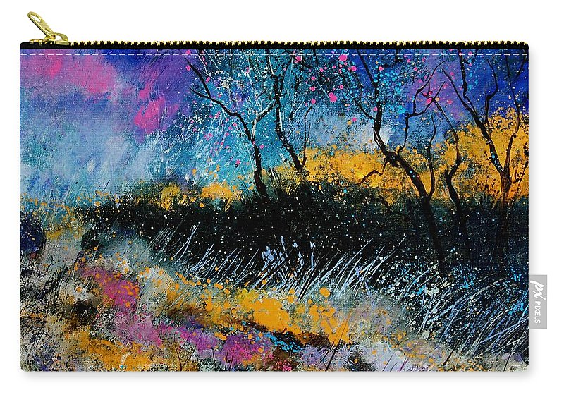 Landscape Carry-all Pouch featuring the painting Magic Morning Light by Pol Ledent