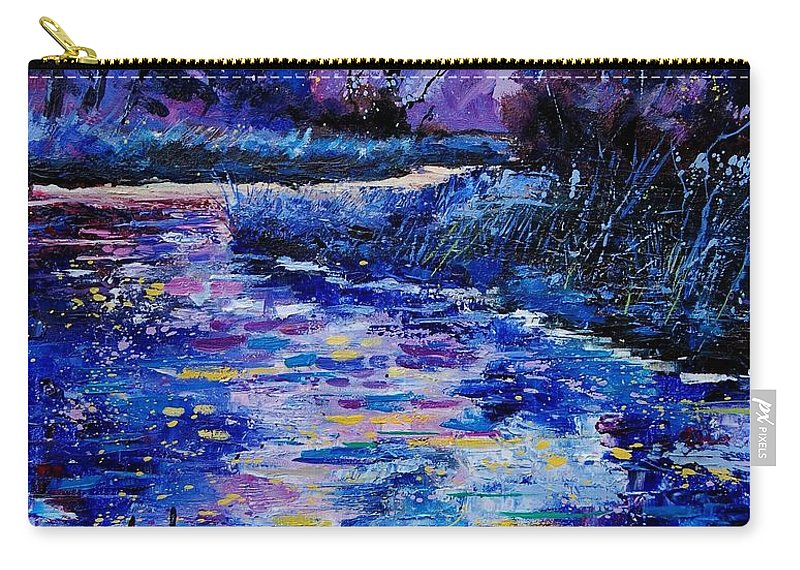 River Carry-all Pouch featuring the painting Magic Pond by Pol Ledent