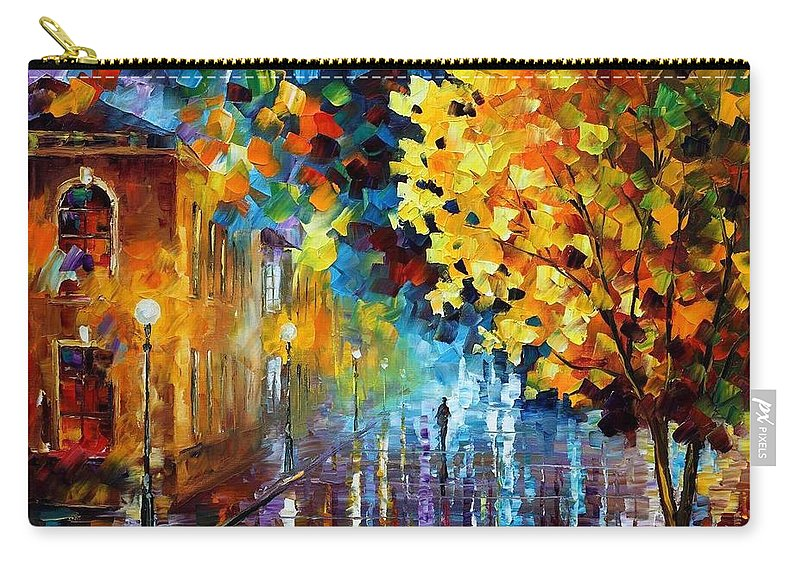 Afremov Carry-all Pouch featuring the painting Magic Rain by Leonid Afremov