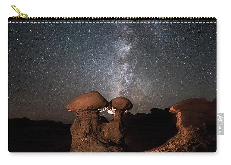 Hoodoo Carry-all Pouch featuring the photograph Magic Shrooms by James Bailey