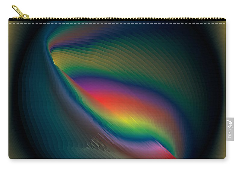 Rainbow Carry-all Pouch featuring the digital art Magic Sphere by Peter Antos