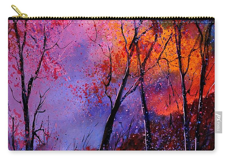 Landscape Carry-all Pouch featuring the painting Magic trees by Pol Ledent