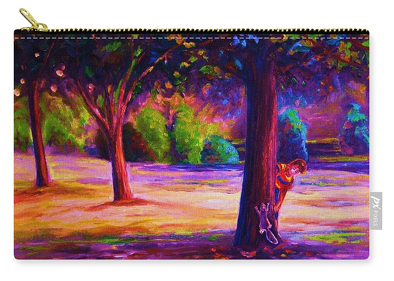 Landscape Carry-all Pouch featuring the painting Magical Day In The Park by Carole Spandau