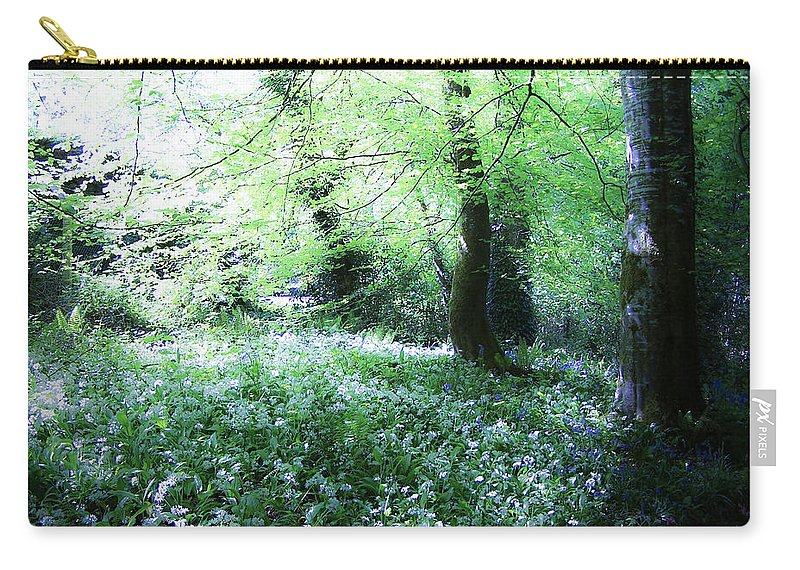Irish Carry-all Pouch featuring the photograph Magical Forest At Blarney Castle Ireland by Teresa Mucha