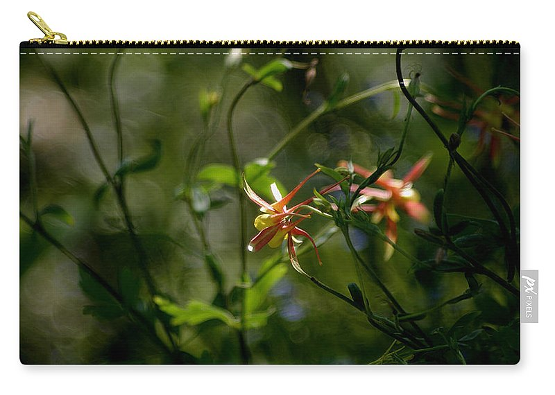 Wild Columbine Carry-all Pouch featuring the photograph Magical Forest by Living Color Photography Lorraine Lynch
