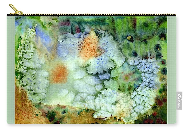 Snow Carry-all Pouch featuring the painting Magical Land by Ishwar Malleret