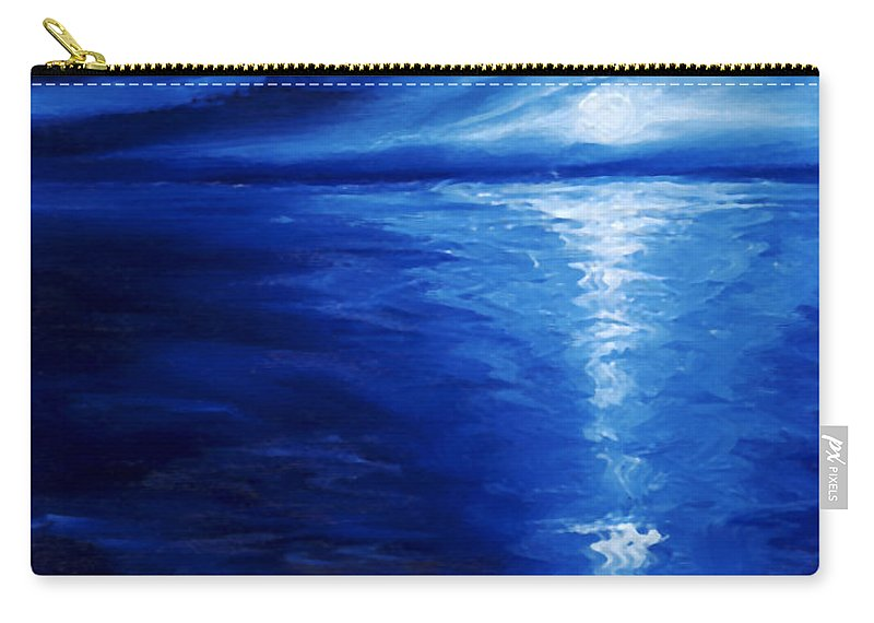 Blue Moon Carry-all Pouch featuring the painting Magical Moonlight by James Christopher Hill