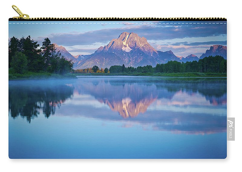 Oxbow Bend Carry-all Pouch featuring the photograph Magical Morning At Oxbow Bend by Matt Shiffler