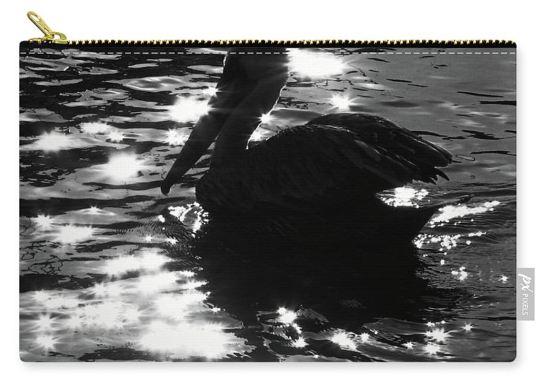 Nature Carry-all Pouch featuring the photograph Magical Pelican by Peg Urban