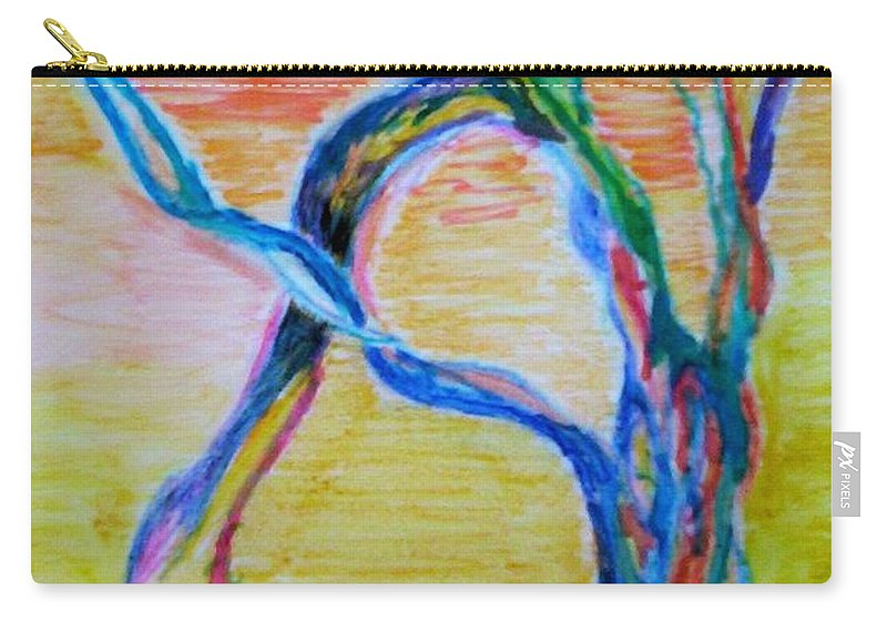 Abstract Painting Carry-all Pouch featuring the painting Magical Tree by Suzanne Udell Levinger