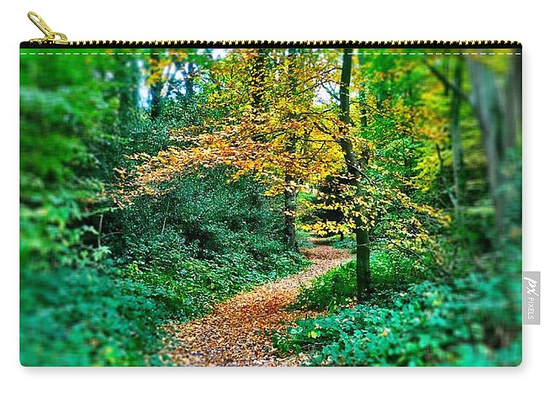 Wood Carry-all Pouch featuring the digital art Magical Woodland Walk by Mo Barton