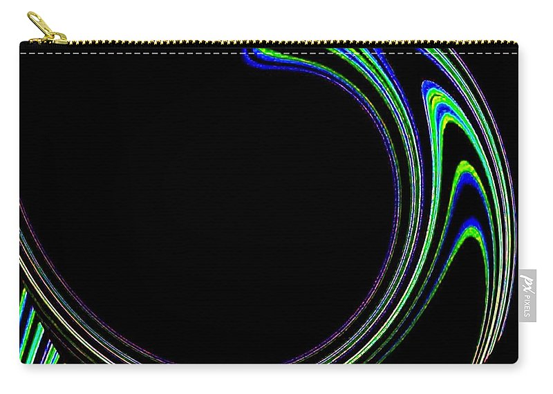 Cosmic Carry-all Pouch featuring the digital art Magnetic Forces by Will Borden