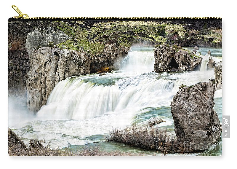 Magnificence Carry-all Pouch featuring the photograph Magnificence Of Shoshone Falls by Daryl L Hunter