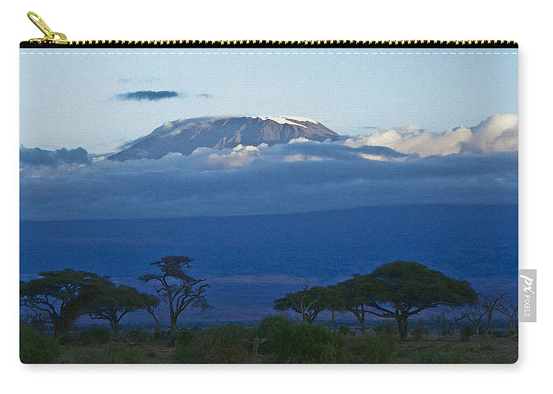 Africa Carry-all Pouch featuring the photograph Magnificent Kilimanjaro by Michele Burgess