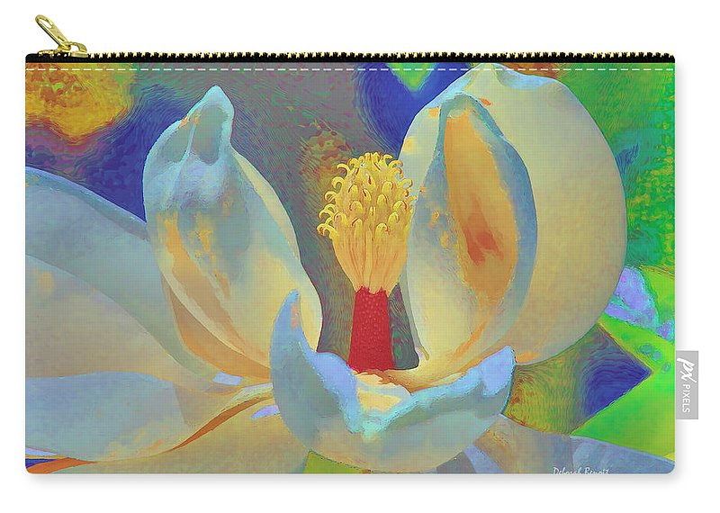 Magnolia Abstract Carry-all Pouch featuring the photograph Magnolia Abstract by Deborah Benoit