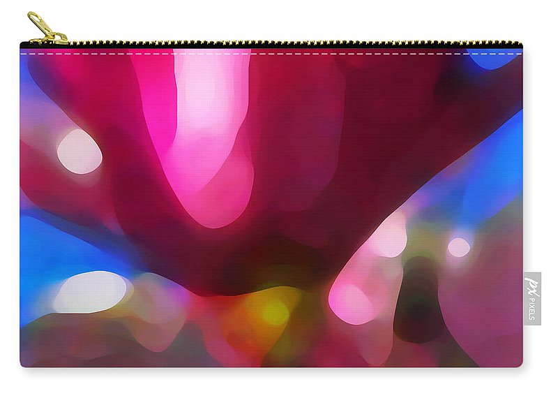 Abstract Painting Carry-all Pouch featuring the painting Magnolia by Amy Vangsgard