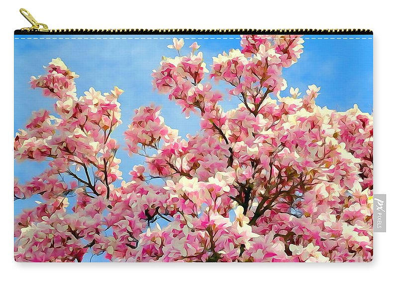Digital Art Carry-all Pouch featuring the photograph Magnolia Beauty #13 by Ed Weidman